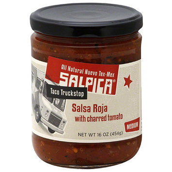Salpica Salsa Roja with Charred Tomato, 16 oz, (Pack of 6)