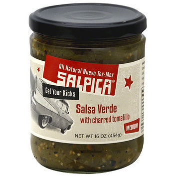 Salpica Salsa Verde with Charred Tomatillo, 16 oz, (Pack of 6)