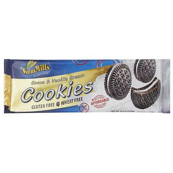 Sam Mills Cocoa & Vanilla Cream Cookies, 10.6 oz, (Pack of 7)