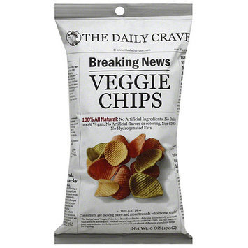 The Daily Crave Veggie Chips, 6 oz, (Pack of 6)
