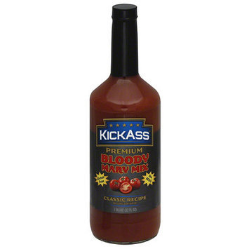 Kick Ass KickAss Classic Recipe Premium Bloody Mary Mix, 1 qt, (Pack of 12)
