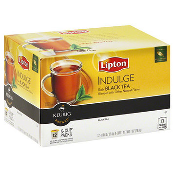 Lipton Indulge Black Tea K-Cups, 0.9 oz, 12 count (Pack of 6)