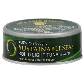 Sustainable Seas Solid Light Tuna in Water, 4.1 oz, (Pack of 12)
