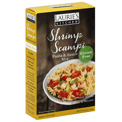 Laurie's Kitchen Gluten Free Shrimp Scampi Pasta & Sauce Mix, 6.6 oz, (Pack of 6)
