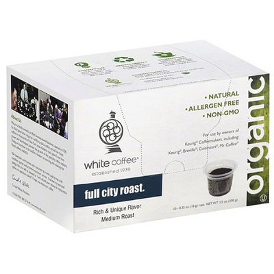 White Coffee Full City Roast Single-Serve Filter Coffee, 10 count, (Pack of 4)
