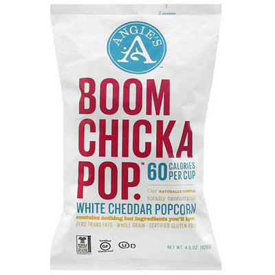Angie's Boomchickapop White Cheddar Popcorn, 4.5 oz, (Pack of 12)