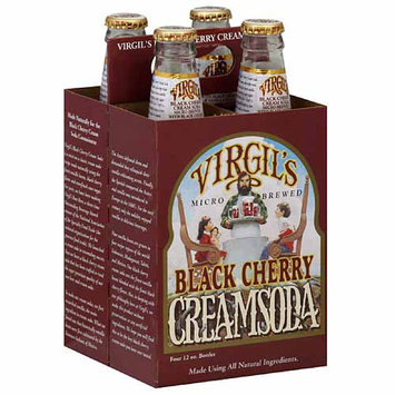 Virgil's Black Cherry Cream Soda, 12 fl oz, 4 pack (Pack of 6)