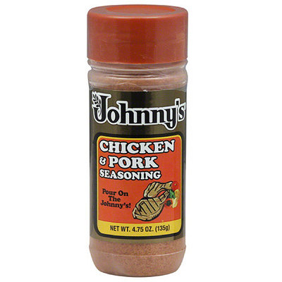 Johnny's Fine Foods Johnny's Chicken & Pork Seasoning, 4.75 oz, (Pack of 6)