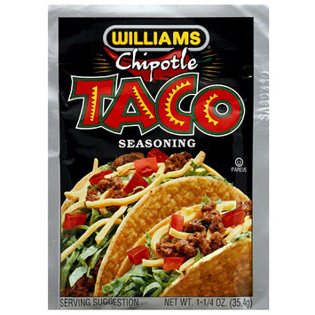 Williams Chipotle Taco Seasoning Mix, 1.25 oz, (Pack of 24)