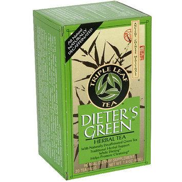 Triple Leaf Tea Dieter's Green Herbal Tea Bags, 20 count, 1.4 oz, (Pack of 6)