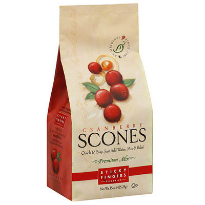 Sticky Fingers Bakeries Cranberry Scone Mix, 15 oz, (Pack of 6)