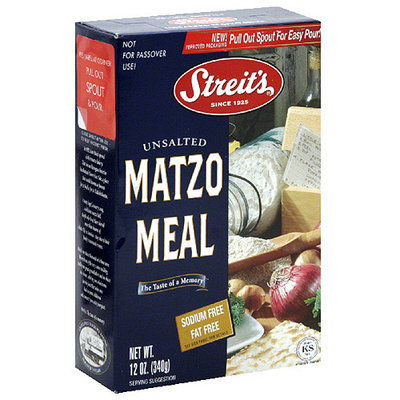 Streits Streit's Unsalted Matzo Meal, 12 oz, (Pack of 18)