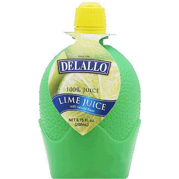DeLallo 100% Lime Juice, 6.75 fl oz, (Pack of 12)