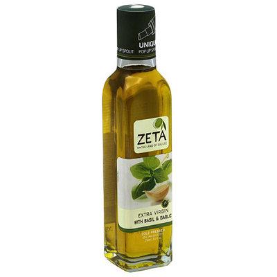 Zeta Technology Zeta Extra Virgin Olive Oil with Basil & Garlic, 8.5 fl oz, (Pack of 6)