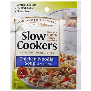 Orrington Farms Slow Cookers Chicken Noodle Soup Seasoning, 2.5 oz, (Pack of 12)