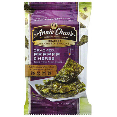 Annie Chun's Cracked Pepper & Herbs Roasted Seaweed Snacks
