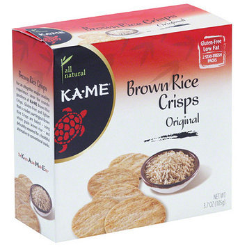 Ka-Me Original Brown Rice Crisps, 3.7 oz, (Pack of 6)