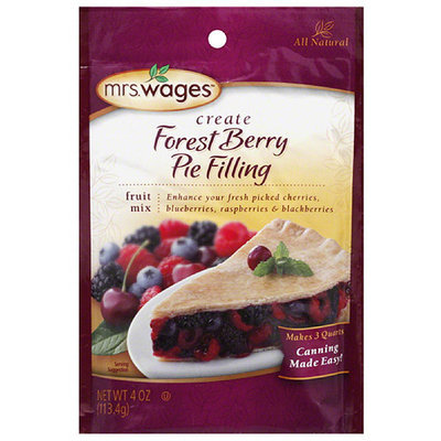 Mrs. Wages Create Forest Berry Pie Filling Fruit Mix, 4 oz, (Pack of 12)