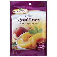 Mrs. Wages Create Spiced Peaches Fruit Mix, 7.4 oz, (Pack of 12)
