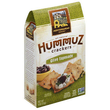 Mediterranean Snacks Hummuz Olive Tapenade Crackers, 4 oz, (Pack of 6)