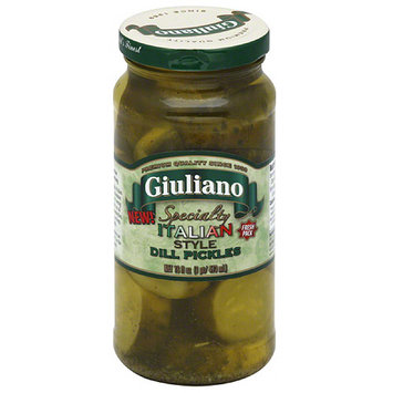 Giuliano Specialty Italian Style Dill Pickles, 16 fl oz, (Pack of 6)