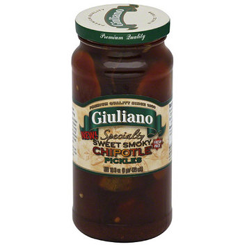 Giuliano Specialty Sweet Smoky Chipotle Pickles, 16 fl oz, (Pack of 6)