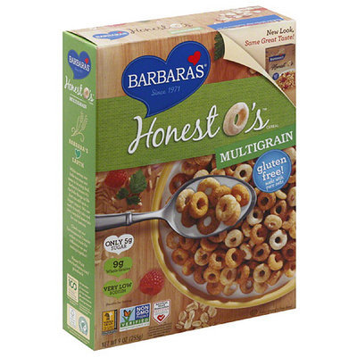 Barbaras Barbara's Honest O's Multigrain Cereal, 9 oz, (Pack of 6)