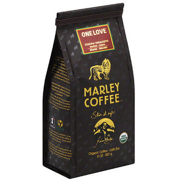 Marley Coffee One Love Coffee Beans, 8 oz, (Pack of 8)
