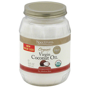 Spectrum Naturals Spectrum Organic Virgin Coconut Oil, 29 fl oz, (Pack of 6)