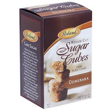 Roland Demerara Rough Cut Sugar Cubes, 35.3 oz, (Pack of 8)