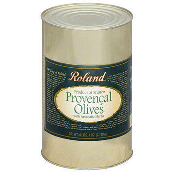Roland Provencal Olives with Aromatic Herbs, 97 oz, (Pack of 6)