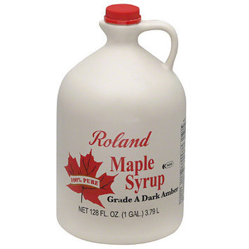 Roland 100% Pure Dark Amber Maple Syrup, 128 fl oz (Pack of 4)