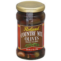 Roland Country Mix Olives, 6.7 oz, (Pack of 12)