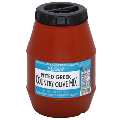 Roland Pitted Greek Country Olive Mix, 70 oz, (Pack of 6)