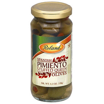 Roland Spanish Pimiento Stuffed Queen Olives, 4.5 oz, (Pack of 12)