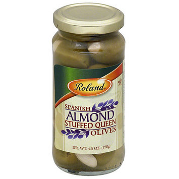 Roland Almond Stuffed Spanish Queen Olives, 4.5 oz, (Pack of 12)