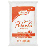 Roland Medium Grain White Polenta, 5 lbs, (Pack of 4)