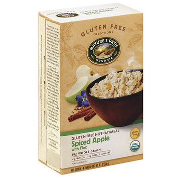 Nature's Path Nature's Organic Path Gluten Free Selections Spiced Apple with Flax Gluten Free Hot Oatmeal, 11.3 oz, (Pack of 6)