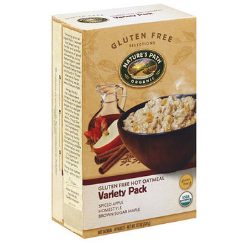 Nature's Path Organic Assorted Gluten Free Hot Oatmeal, 11.3 oz, (Pack of 6)
