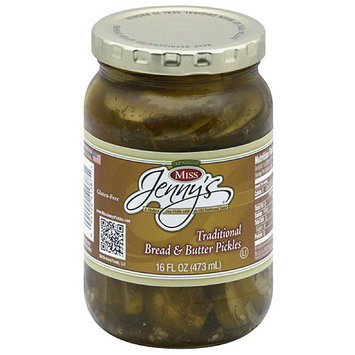 Miss Jenny's Pickles Miss Jenny's Traditional Breaded & Butter Pickles, 16 fl oz, (Pack of 6)