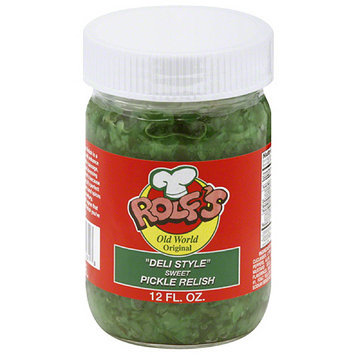 Rolfs Rolf's Deli Style Sweet Pickle Relish, 12 fl oz, (Pack of 6)