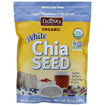 Nutiva Organic White Chia Seed, 12 oz, (Pack of 6)