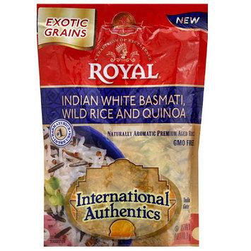 Royal International Authentics Indian White Basmati, Wild Rice and Quinoa, 6 oz, (Pack of 10)