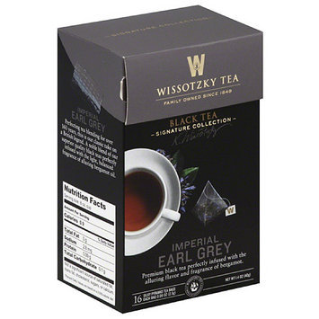Wissotsky Wissotzky Tea Imperial Early Grey Black Tea Bags, 16 count, 1.4 oz, (Pack of 6)