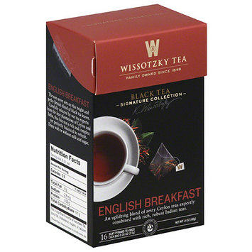 Wissotsky Wissotzky Tea English Breakfast Black Tea Bags, 16 count, 1.4 oz, (Pack of 6)