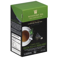 Wissotsky Wissotzky Tea Timeless Green Tea with Nana Mint Tea Bags, 16 count, 1.4 oz, (Pack of 6)