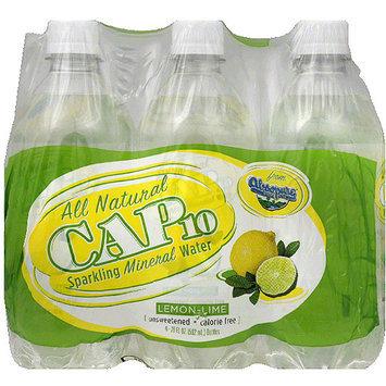 Cap10 Lemon-Lime Sparkling Mineral Water, 120 fl oz, (Pack of 4)