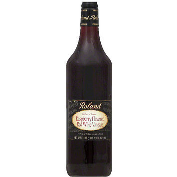 Roland Raspberry Flavored Red Wine Vinegar, 33.8 fl oz, (Pack of 12)