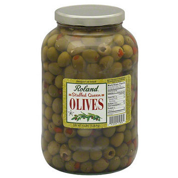 Roland Stuffed Queen Olives, 5 lbs, (Pack of 4)