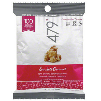 479 Degrees Sea Salt Caramel Artisan Popcorn, 1.25 oz, (Pack of 24)